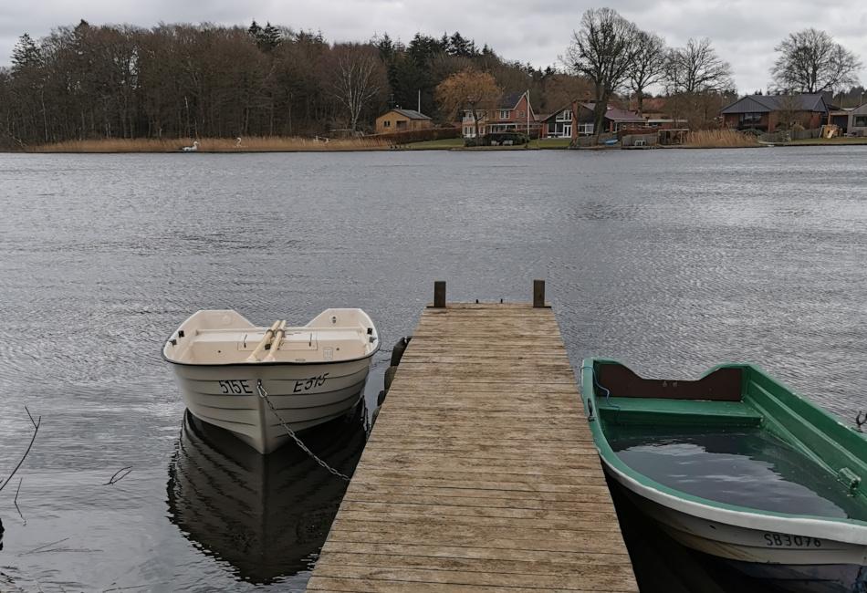 Båden i Silkeborg Langsø (Lysbro)