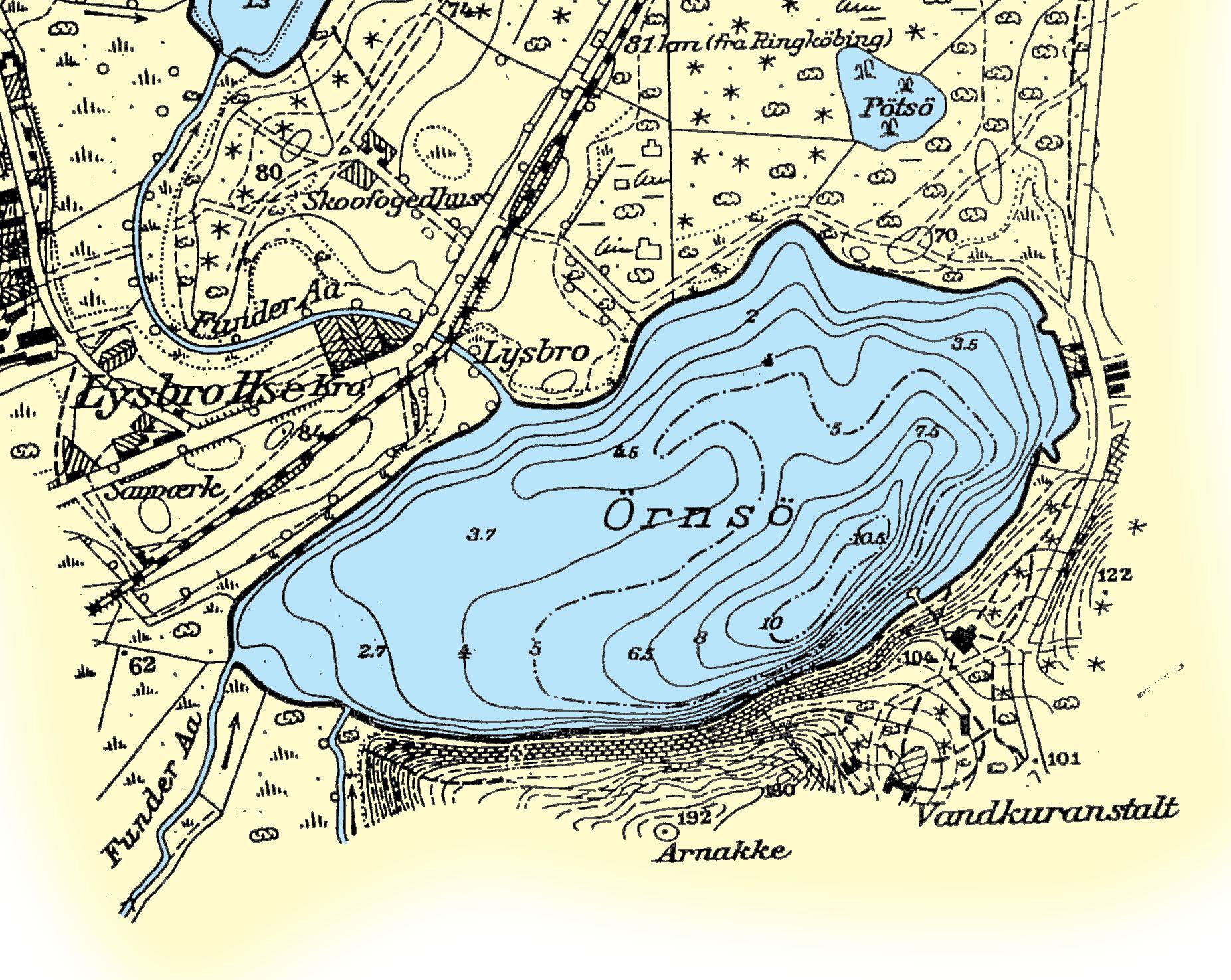 Gamle Dybdekort Silkeborg Fiskeriforening
